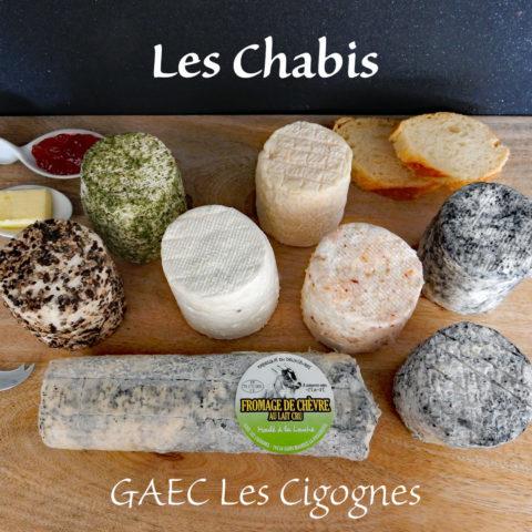 Plateau de fromages de chèvre GAEC les Cigognes Saint Maurice Etusson
